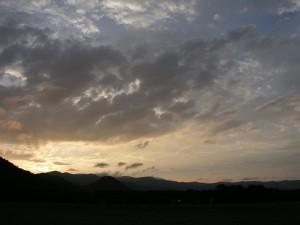 屈斜路湖の空